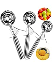 Ice Cream Scoops, MAGICYOYO Trigger Cookie Scoop Set Stainless Steel Spoon Scoopers Kids, Friends & Familes