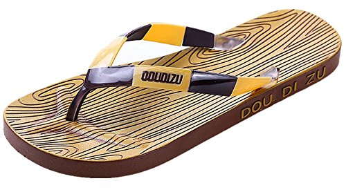 Anbover Heren Comfortabele String Sandaal Strand Flip Flop Kaki