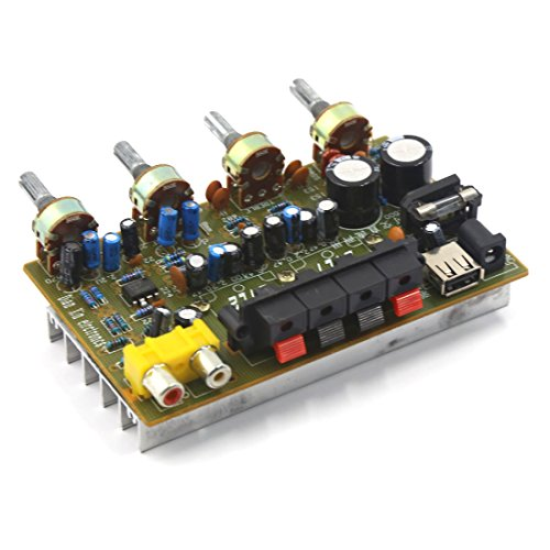 uxcell DC 12V-15V 200W LFE Hi-Fi Audio Stereo Power Amplifier Board for (Lfe Kit)