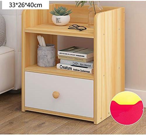 木制サイドテーブル ナイトテーブル 引き出し付き おしゃれ 北欧 コンパクト ソファサイドテーブル ベッドサイドテーブル 組立簡単色1