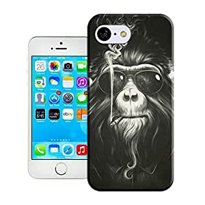 Customize Protective Case Smoking monkey of Back Teeth Cover Case for of iphone 5s urged