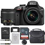 Nikon D3400 24.2MP DSLR Camera with AF-P 18-55mm VR Lens Kit + 32 GB Sandisk Memory Card & Deluxe Gadget Case (Certified Refurbished)