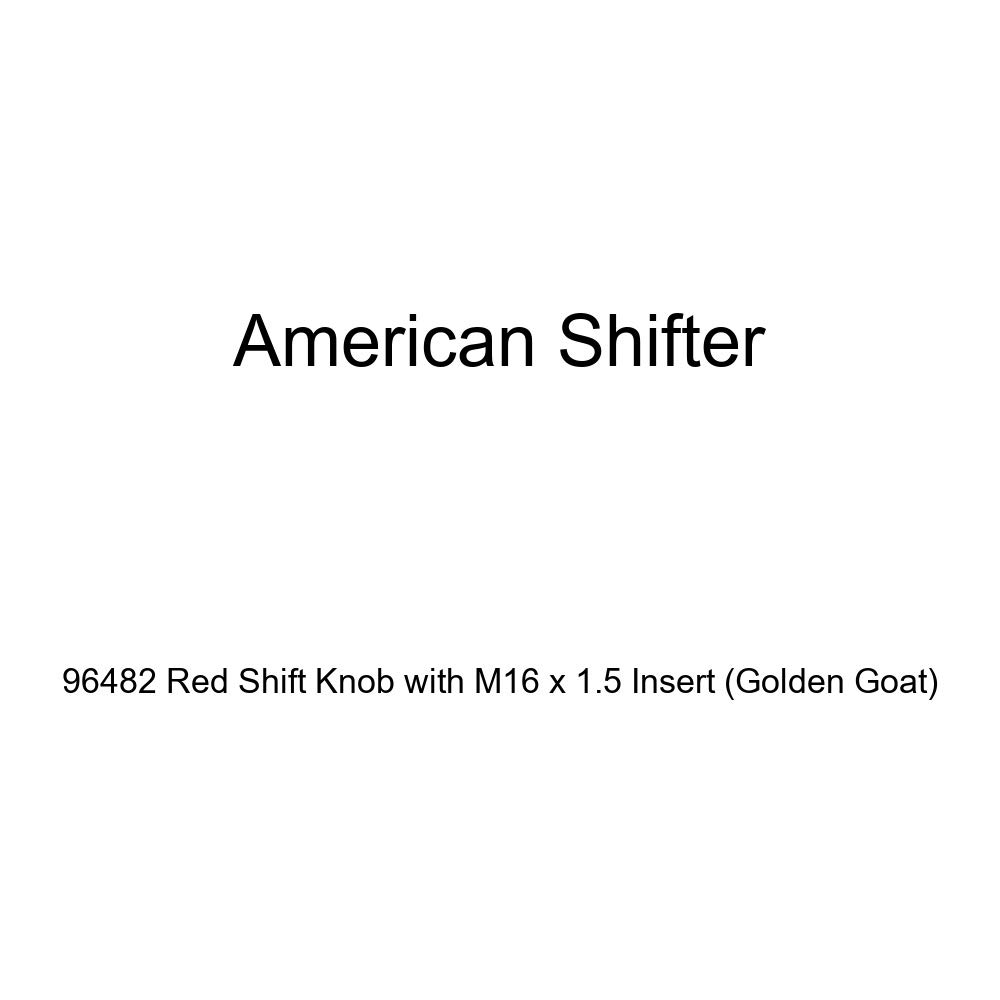 Golden Goat American Shifter 96482 Red Shift Knob with M16 x 1.5 Insert