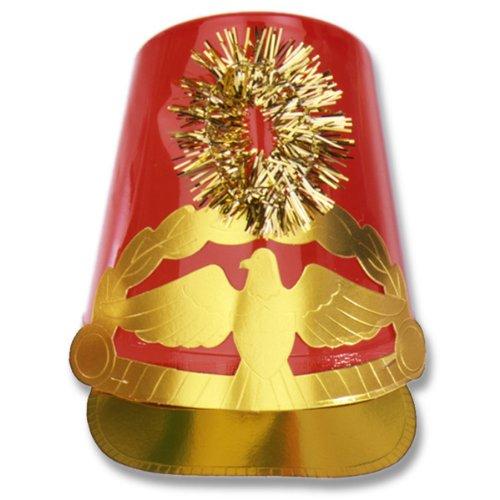 Beistle 66135-R - Plastic Drum Major Hat - Red [Toy]