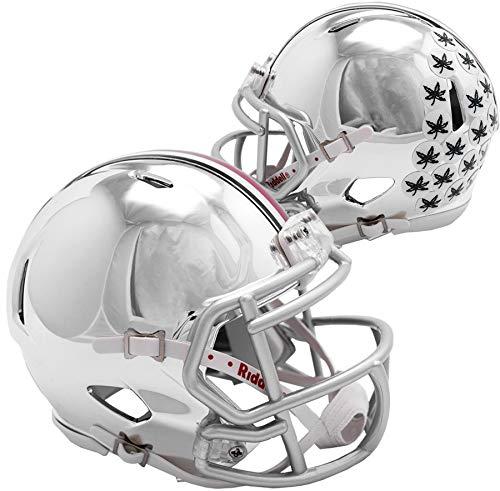 Sports Memorabilia Riddell Ohio State Buckeyes Chrome Alternate Speed Mini Football Helmet - College Mini Helmets ()