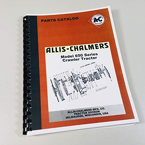 (Allis Chalmers 650 Crawler Tractor Parts Manual Ac Catalog Bulldozer Dozer )