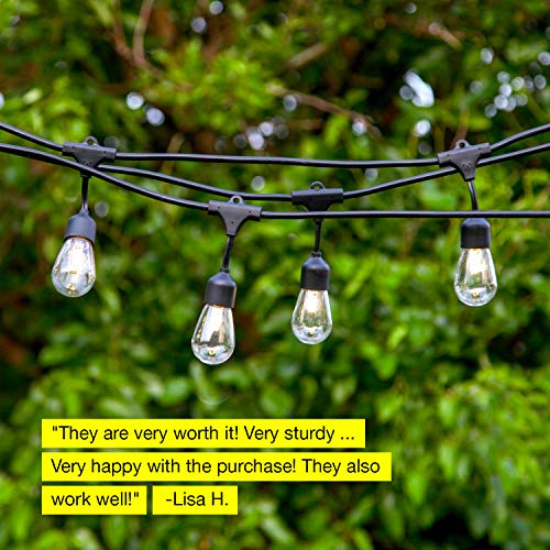 Brightech Ambience Pro -Waterproof Solar LED Outdoor String Lights - Hanging 1.5W Vintage Edison Bulbs 27 Ft Commercial Grade Patio Lights Create Bistro Ambience In Your Backyard, On Your Porch by Brightech (Image #5)