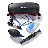 Tycka Camera Cleaning Kit TK004 (with waterproof bag), 30ml non-toxic alcohol-free cleaning solution, improved uni-body air blower, lenspen, microfiber cleaning cloth, cleaning wipes and tissue for DSLR, Lens and Electronics