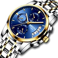 [Sponsored]Men's Watches Luxury Fashion Casual Dress Chronograph Waterproof Military Quartz...