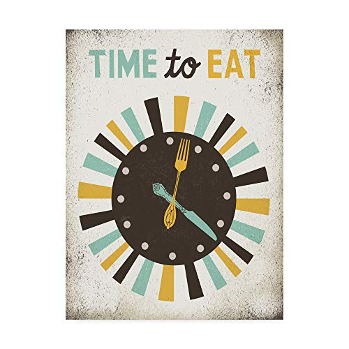 Trademark Fine Art Retro Diner Time to Eat Clock