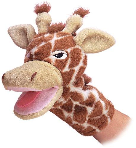 Aurora World Jolie Giraffe Plush Hand Puppet, 10″