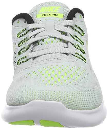 nike womens free RN running trainers 831509 sneakers shoes (US 6, pure platinum volt black wolf grey 007)