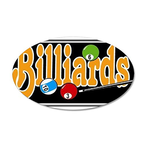 CafePress - Billiards 22X14 Oval Wall Peel - 20x12 Oval Wall Decal, Vinyl Wall Peel, Reusable Wall Cling