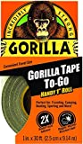 "Tools & Hardware : Gorilla Duct Tape To-Go, 1"" x 30 ft, Black"