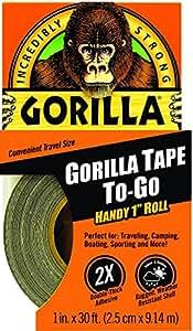 "Gorilla Duct Tape To-Go, 1"" x 30 ft, Black"