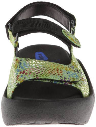 3204 Womens Wolky Jewel Leather Verde Sandals pq5YwBP