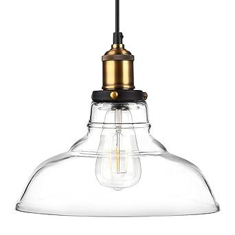 Colgante luces para colgar cristal lámpara de techo Fixture, hojas de roble Vintage Industrial Edison