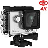 SJCAM SJ5000X Elite 4K Action Camera Wifi Cam Waterproof Underwater Camera- 4k@24FPS 12MP/Gyro Stabilization/2.0 LCD Screen (Waterproof Case & Accessories Included) -Silver