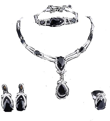 The V Collection earrings black rhodium plated rainbow with two tear drop fashion jewelry dangling earrings gifts for her