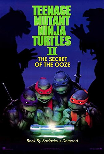Teenage Mutant Ninja Turtles 2: The Secret of the Ooze Movie POSTER 27 x 40, Francois Chau, David Warner, A, MADE IN THE USA