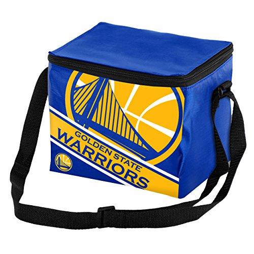 - Golden State Warriors Big Logo Stripe 6 Pack Cooler