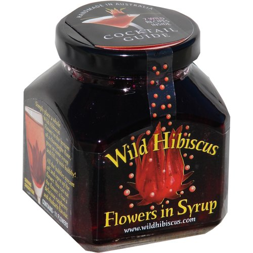 Wild Hibiscus Flowers in Syrup - 8.8 oz (250 g)