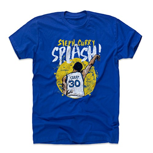 500 LEVEL Steph Curry Cotton Shirt XX-Large Royal Blue - Golden State Basketball Men's Apparel - Steph Curry Splash Y (Golden State Warriors Custom Jersey)
