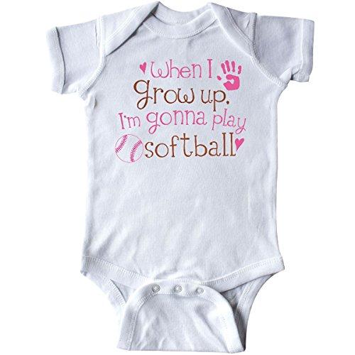 Softball Onesie (inktastic - Future Softball Player Girls Infant Creeper 6 Months White)