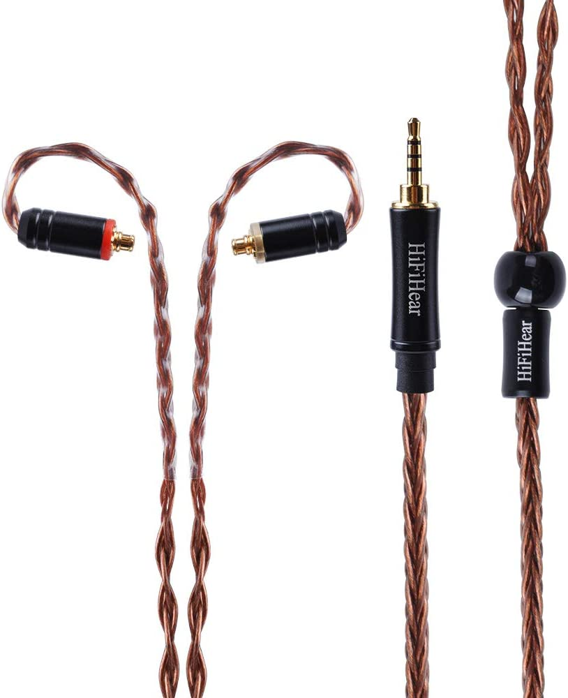 MMCX 3.5mm 8 Core MMCX Replacement Cable Earphone Replacement Cable with MMCX Connectors???Upgrade balanced Cable Silver Plated Audio Wire For SHURE 846 535 215 315 425 MAGAOSI K5 LZ A4 A5 etc.