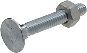 National Hardware N280-859 V7652 Flat Head Carriage Bolts and Nuts in Zinc plated, 12 pack,1/4