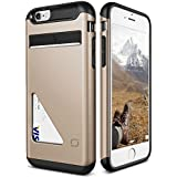 iPhone 6S Plus Case, Lific [Mighty Card][Champagne Gold] - [Wallet Card Slot][Drop Protection] For Apple iPhone 6 6S Plus 5.5