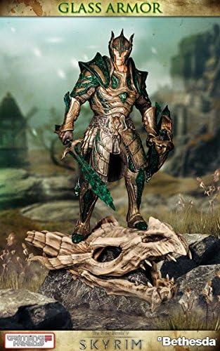 Elder Scrolls V Skyrim Glass Armor 1 6 Scale Statue