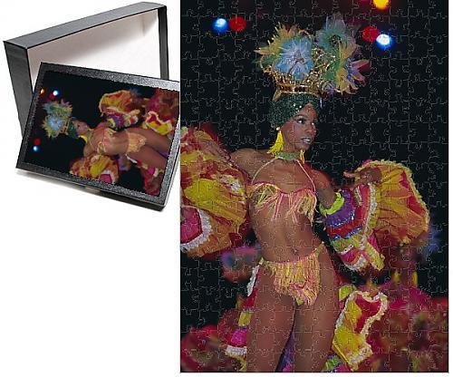 Photo Jigsaw Puzzle of Dancer, Tropicana Cabaret, Havana, Cuba, West Indies, Central America (Cabaret Outfits)