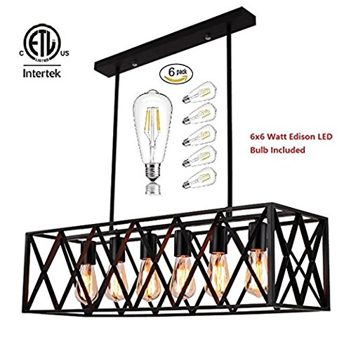 Dalinus Creative Cuboid Net Type Decorative Chandelier Warm light Pendant Lighting Vintage style for Dining room - Orb Small Pendant