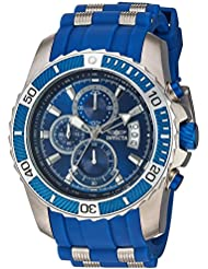 Invicta Mens Pro Diver Quartz Stainless Steel and Polyurethane Casual Watch, Color:Blue (Model: 22429)