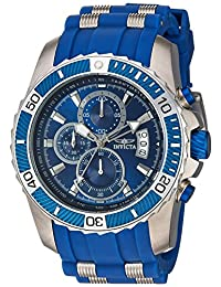 Invicta Men's 'Pro Diver' Quartz Stainless Steel and Polyurethane Casual Watch, Color:Blue (Model: 22429)