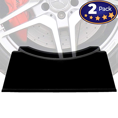 Adjustable Tire Display Stand 2 Pack Makes a Great Car Enthusiast Gift Idea for Men or Practical Garage Decor. These Auto Shop Accessories Universally Fit Rims & Wheels 6 to 12 Wide. No Tools Needed! ()
