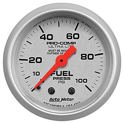 Auto Meter 4312 Ultra-Lite Mechanical Fuel Pressure Gauge: Automotive