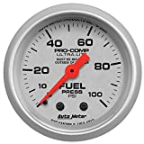diesel fuel pressure gauge - Auto Meter 4312 Ultra-Lite Mechanical Fuel Pressure Gauge