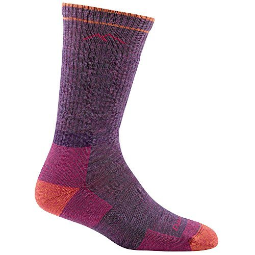 Trek Boot Sock (DT Women's Hiker Boot Sock Full Cushion Hike / Trek Socks Plum Heather M 2-PACK)