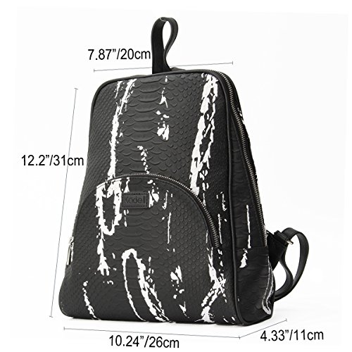 Kadell - Bolso mochila  para mujer, negro y blanco (multicolor) - KADELLIGIRI2364 negro y blanco