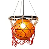 American Retro Creative Basketball Pendant Lights Sport Theme Art Decoration Personality Restaurant Gymnasium Store Decorative Lighting Ceiling Light