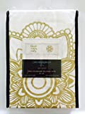 Cynthia Rowley Gold Good Vibes Only Pillowcases