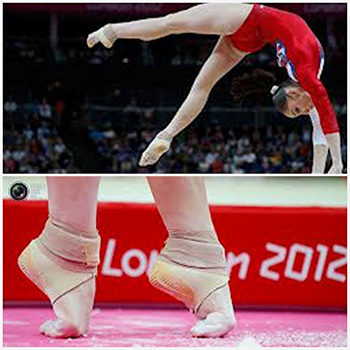 Tuli's Cheetah Heel Protector - Fitted Ankle Support for Gymnasts and Dancers - Small (7.5'' - 8.5'') by Tuli's (Image #3)