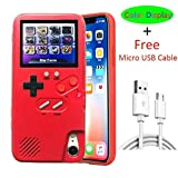 iPhone Xs Max Gameboy Case for Women, VOLMON Shockproof iPhone Xs Max Case Cover with 36 Kind 3D Video Games, Color Display Retro Game Case, Pretty Girl Case Funny for iPhone Xs Max, 6.5 Inch