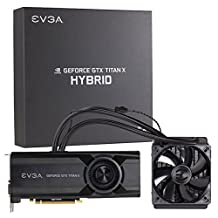 EVGA GeForce GTX TITAN X 12GB HYBRID GAMING, All in One No Hassle Water Cooling, Just Plug and Play Graphics Card 12G-P4-1999-KR by EVGA