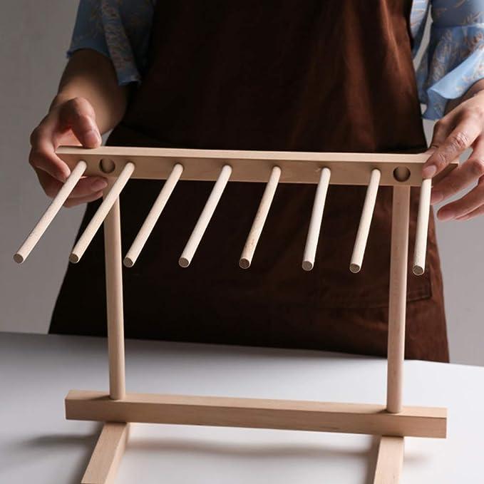Secadores pasta De Madera soporte, Plegable soporte secador De Haya Natural, Fácil Almacenamiento, No Hay Pintura Sin Cera,Beech wood: Amazon.es: Hogar
