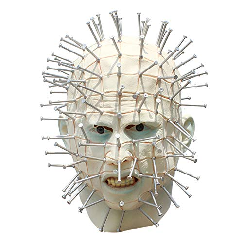 Pinhead Halloween Mask (Alapaste Scary Pinhead Halloween Mask Creepy Mask Cosplay Resurrection Prosthetic Exorcist Adult)