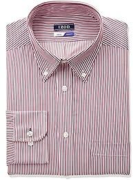 Men's Regular Fit Stripe Buttondown Collar Dress Shirt