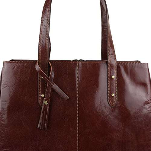 Visconti, Borsa a mano donna Marrone Tan/Brown large